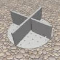 Fugenkreuz PVC mit Boden 30/17/3 mm - Karton a 100 Stück