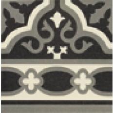 Victorian Cenefa Florentin Schwarz  20/20 cm