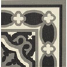 Originalmuster Victorian Ecke Florentin  Schwarz